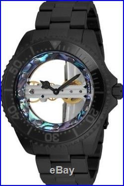 Invicta 26411 Pro Diver Men's 47mm Mechanical Skeleton Black-Tone Steel Watch