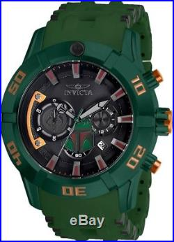 Invicta 26546 Star Wars Men's 50mm Stainless Steel Green Rubber Black Dial Watch