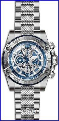 Invicta 26793 Marvel Men's 52mm Chronograph Stainless Steel Blue Dial Watch