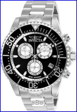 Invicta 26846 Pro Diver Men's 47mm Chronograph Stainless Steel Black Dial Watch