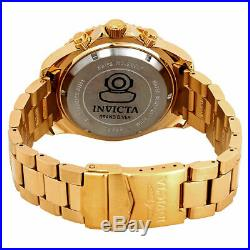 Invicta 26849 Pro Diver Men's 47mm Chronograph Gold-Tone Steel Blue Dial Watch