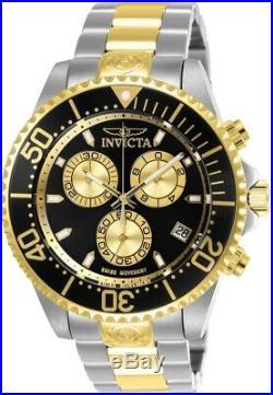 Invicta 26850 Pro Diver Men's 47mm Chronograph Two-Tone Steel Black Dial Watch