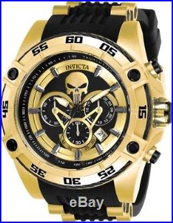 Invicta 26860 Marvel Punisher Men's 52mm Chronograph Gold-Tone Rubber Watch