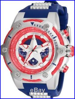 Invicta 26894 Marvel Captain America Men's 51mm Chronograph Stainless Steel