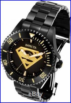 Invicta 26897 DC Comics Superman Men's 47mm Automatic Black-Tone Steel Watch