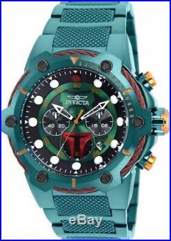 Invicta 27113 Star Wars Men's 51.5mm Chronograph Green-Tone Steel Green Di Watch