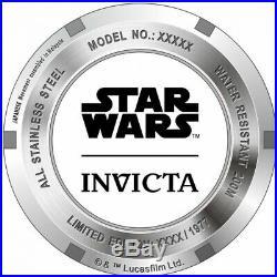 Invicta 27428 Star Wars Men's 47mm Automatic Black-Tone Burgundy Dial Watch