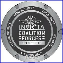 Invicta 27840 Coalition Forces Men's 51mm Chronograph Titanium-Tone Steel