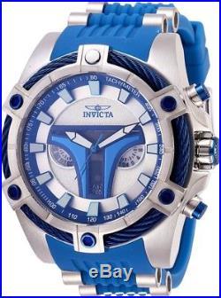 Invicta 27968 Star Wars Jango Fett Men's Chronograph 52mm Blue Rubber Watch