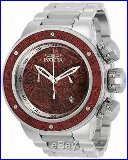 Invicta 28247 Subaqua Men's 52mm Chronograph Stainless Steel Red Wood Dial Watch