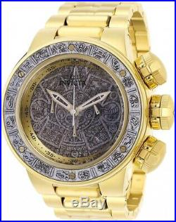 Invicta 28255 Subaqua Men's 52mm Chronograph Gold-Tone Silver Wood Dial Watch