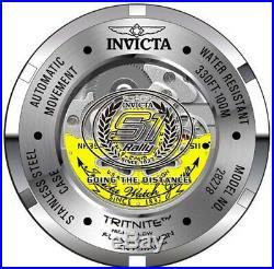 Invicta 28278 S1 Rally Turbine Men's 52mm Automatic Black-Tone Yellow Rubber