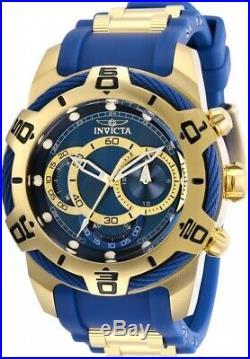 Invicta 29068 Bolt Men's Chronograph 50mm Sgold-Tone Blue Dial Watch