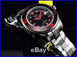 Invicta 300m Men's Fire Red Stealth Triple Black Grand Diver Automatic SS Watch