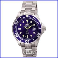 Invicta 3045 Men's Grand Diver Automatic Blue Dial Steel Watch