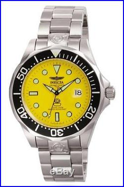 Invicta 3048 Men's Automatic Grand Diver Yellow Dial Steel Watch