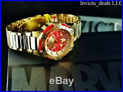 Invicta 39mm Marvel Bolt IRON MAN Limited Edition 18K Gold Plated Two Tone Watch