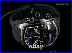 Invicta 47MM Men's Lupah Revolution Swiss Quartz Chronograph ALL Black Watch