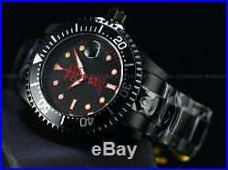 Invicta 47mm Men's Triple Black Combat Grand Diver Automatic Red Label SS Watch