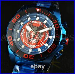 Invicta 48mm Marvel Spider Man Chronograph Limited Ed. Spider Dial BLUE SS Watch