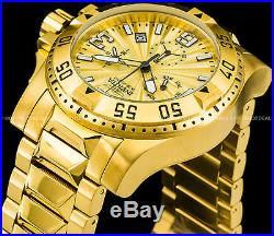 Invicta 50mm Men's Excursion Swiss Z60 Chronograph 18K Gold Plated 200MT Watch