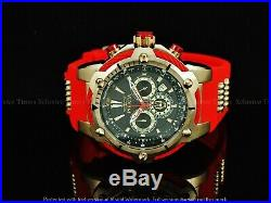 Invicta 52mm LE MARVEL ENDGAME IRON MAN Bolt Chronograph Bronze IP SS Red Watch