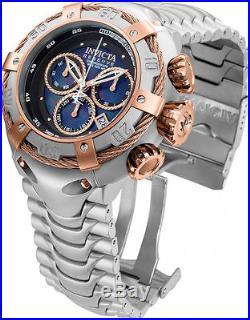 Invicta 52mm Men's Bolt Steel Bracelet & Case Swiss Quartz Blue Dial Watch 21342