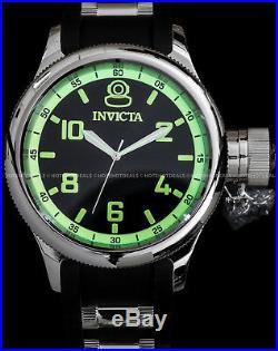 Invicta 52mm Mens Russian Diver Quinotaur Special Edition Black PU Strap Watch