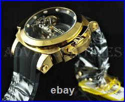 Invicta 53mm CF MAN OF WAR Ghost Automatic Skeletonized 18K Gold Plated Watch
