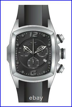 Invicta 6103 Lupah Mens Watch NEW 47MM Black Dial Chronograph Polyurethane Strap