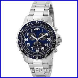 Invicta 6621 Men's II Collection Stainless Steel Blue & Black Dial Chronogra