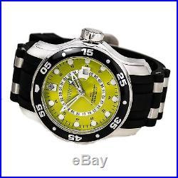 Invicta 6988 Men's Scuba Yellow Dial Strap GMT Dive Watch