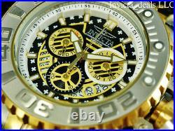 Invicta 70MM Men's SEA HUNTER Gen II Swiss Chrono BLACK DIAL Gold Two Tone Watch