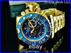 Invicta 70MM Men's SEA HUNTER Gen II Swiss Chronograph BLUE DIAL Gold Tone Watch