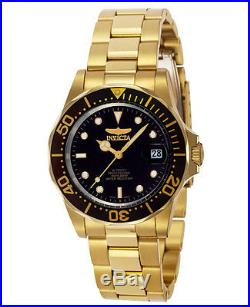 Invicta 8929 Men's Pro Diver Gold Tone Automatic Black Dial Dive Watch