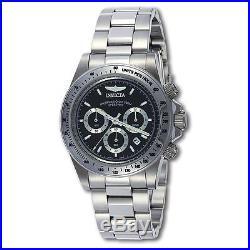 Invicta 9223 Mens Speedway Black Dial Steel Bracelet Chrono Watch