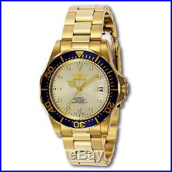 Invicta 9743 Men's Pro Diver Beige Dial Gold Plated Automatic Dive Watch