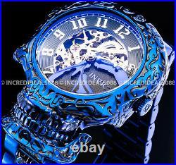 Invicta AUTOMATIC SKULL ARTIST SKELETONIZED Dial BLUE LABEL Men RARE Watch
