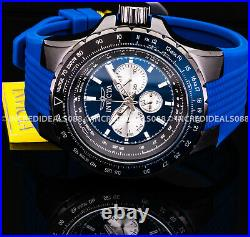Invicta AVIATOR VOYAGE Multi Function BLUE BLACK Dial Nautical Stylish Men Watch