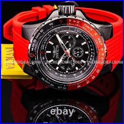 Invicta AVIATOR VOYAGER Multi Function RED BLACK Dial NAUTICAL Stylish Men Watch
