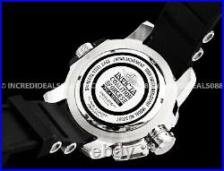 Invicta COALITION FORCES RETROGRADE Silver Black 52mm Men Stainless Steel Watch