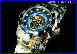 Invicta Disney Men's 48mm Pro Diver SCUBA Chrono Limited Ed Gold Two Tone Watch