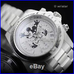 Invicta Disney Mickey Mouse Limited Edition Stainless Steel Chrono LE Mens Watch