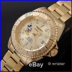 Invicta Disney Mickey Mouse Pro Diver Gold Limited Edition Automatic Men's Watch