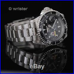 Invicta Disney Mickey Mouse Pro Diver L. E. Black Dial Stainless Steel Mens Watch
