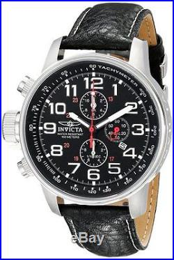 Invicta Force Collection Left Handed Chronograph Black Leather Mens Watch 2770