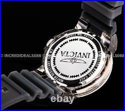 Invicta Grand Pro Diver Anatomic Silver Black Dial 52mm Men Stylish Bold Watch