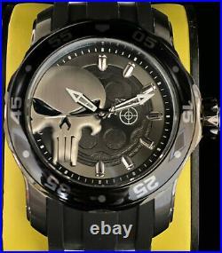 Invicta MARVEL PUNISHER SCUBA PRO DIVER Gunmetal Black Mens Ltd Ed SS 48mm Watch