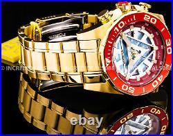 Invicta MARVEL TONY STARK IRON MAN Chronograph 18Kt Red Gold Dial Bracelet Watch