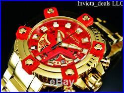 Invicta Marvel 63mm Grand Arsenal IRON MAN Swiss Chrono High Polish 18K GP Watch